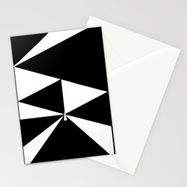 Triangles in Black and White Stationery Cards