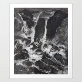 Wtaerfall Chalk#2 Art Print