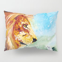 The Lion and the Rat - Animal - by LiliFlore Pillow Sham