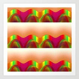COLOR WAVES OF SOUND Art Print