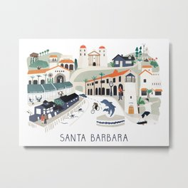 The best of Santa Barbara Metal Print