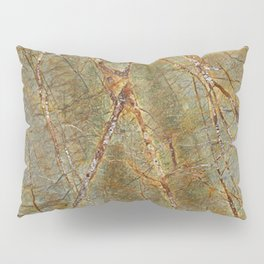 Forest Green Marble Pillow Sham