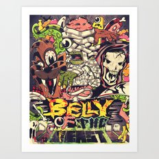 Belly of the beast Art Print