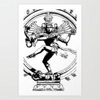 Natraj Dance - Mono Art Print