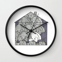 Mole house Wall Clock