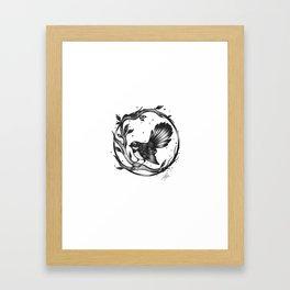 The New Zealand Fantail Framed Art Print