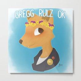 Gregg Rulz Ok Metal Print