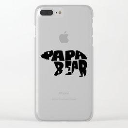 Papa Bear Clear iPhone Case