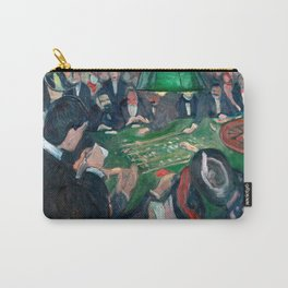 Edvard Munch - At the Roulette Table in Monte Carlo Carry-All Pouch