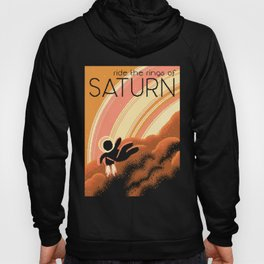 SATURN Space Tourism Travel Poster Hoody