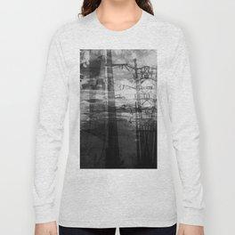 Transformer Sunset II- Black and White Long Sleeve T-shirt