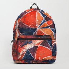Twelve Around One Universe Galaxy Geometric Watercolor Painting Backpack