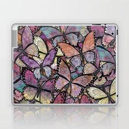 butterflies aflutter rosy pastels version Laptop & iPad Skin