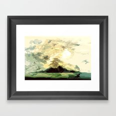 SUNSET AND HORIZON ABSTRACTLY: Framed Art Print