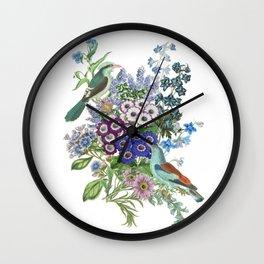 BLUE BIRDS Wall Clock
