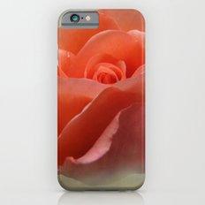 Romantic Peachy Rose Floral Slim Case iPhone 6s