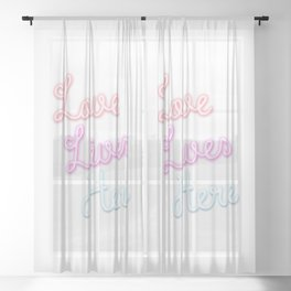 Love Lives Here Sheer Curtain