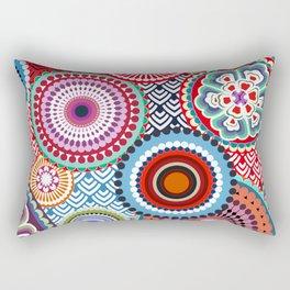 ECLECTIC FLOWERS Rectangular Pillow