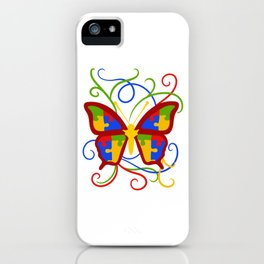 Butterfly Top For Butterfly Enthusiast And Lovers T-shirt Design Insects Science Animals Fly Flying iPhone Case
