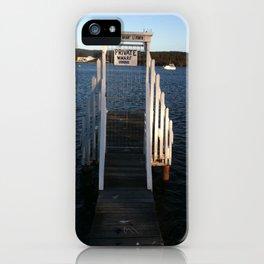 Wharf Walk iPhone Case