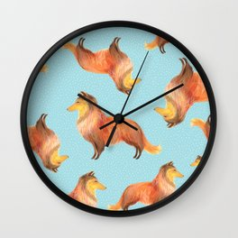 Shetland Sheepdog, Rough Collie, Scotch Collie, Lassie Wall Clock