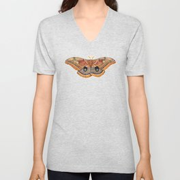 Polyphemus Moth (Antheraea polyphemus) II Unisex V-Neck