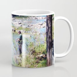 Gone Fishing Card Coffee Mug