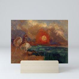 "Odilon Redon ""Saint George and the Dragon (Saint Georges et le dragon)"" Mini Art Print"