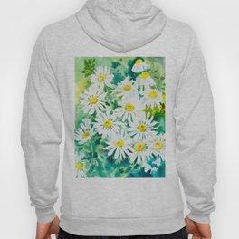 Chamomile Flowers, Herval design Field flowers wild flowers floral art Hoody