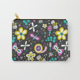 Happy Critters Black Carry-All Pouch