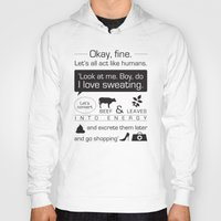 aperture Hoodies featuring Aperture Science, Portal Quote - Typography by sipstudio
