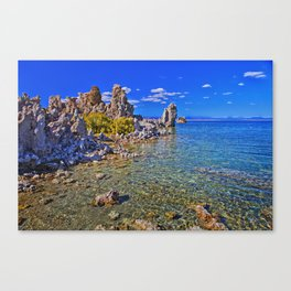 Crystal Clear Mono Lake in the Fall Canvas Print