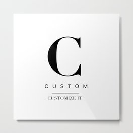 Custom city Metal Print