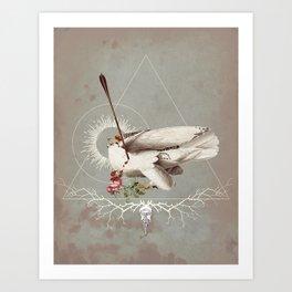 Meme les oiseaux meurent /1 Art Print