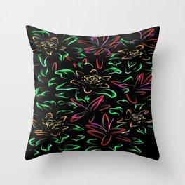 The Silk Garden Throw Pillow