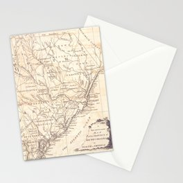 Vintage Map of South Carolina (1779) Stationery Cards