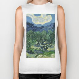 Olive Trees by Vincent van Gogh Biker Tank