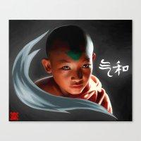 aang Canvas Prints featuring Avatar Aang by Han Jihye