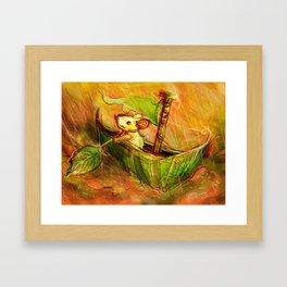 Mouse Boat Framed Art Print