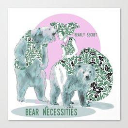 Bear Necessities #1a Bearly Secret Canvas Print