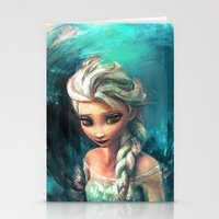 elsa Stationery Cards featuring The Storm Inside by Alice X. Zhang