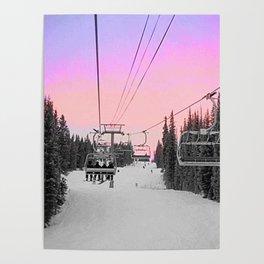 Ski Lift Sunset Shot on iPhone 4 Poster