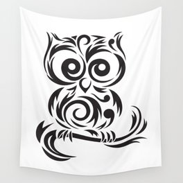Owl Leaves Wall Tapestry