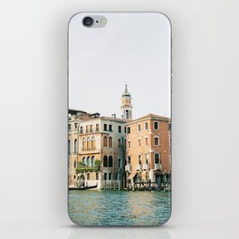 Travel photography | Architecture of Venice | Pastel colored buildings and the canals | Italy iPhone Skin