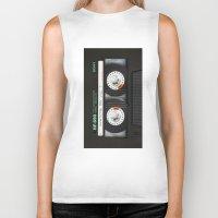 daenerys targaryen Biker Tanks featuring cassette classic mix by neutrone