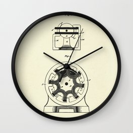 Electro Magnetic Motor-1890 Wall Clock