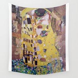THE KISS COLLAGE. GUSTAV KLIMT. Wall Tapestry