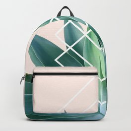 Agave geometrics - peach Backpack