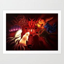 Bijuu Ninja Pets Art Print