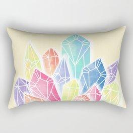 Crystals Yellow Rectangular Pillow